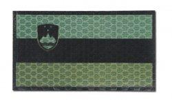 Combat-ID - Naszywka Słowenia - Duża - Zielony / OD - Gen I