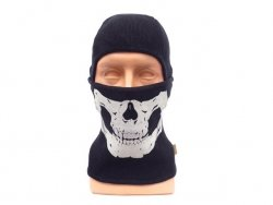Kominiarka wełniana - BK/Skull [EM]