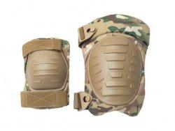 Wojskowe ochraniacze na kolana i łokcie - Multicam [EM]