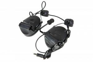 Zestaw słuchawkowy Z152 CII z adapterem do hełmów typu FAST - czarny