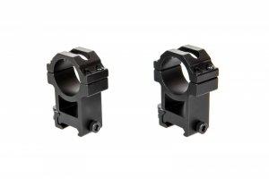 Zestaw 2 wysokich montaży lunety 30mm QD