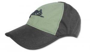 Helikon - Czapka Logo Cap - Czarny / Zielony OD - CZ-LGC-PR-0102B