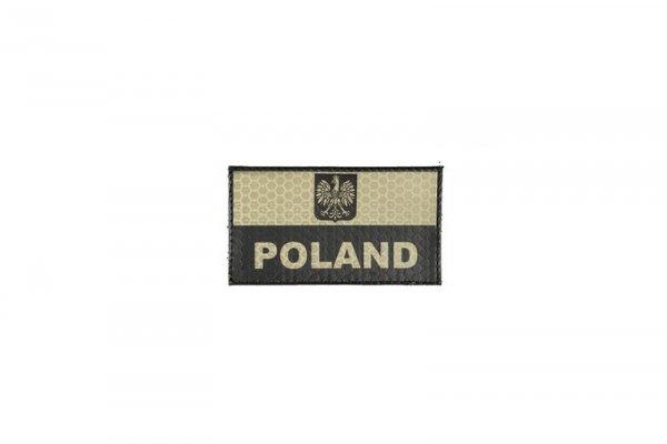 Naszywka IR - Flaga Polski - tan