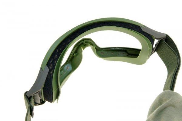 Gogle niskoprofilowe + zestaw szkieł - oliwkowe