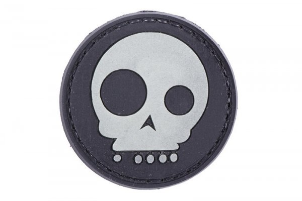 Naszywka 3D – Funny Skull - czarna