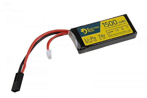 ElectroRiver - Akumulator LiPo 7,4V 1500mAh 20C