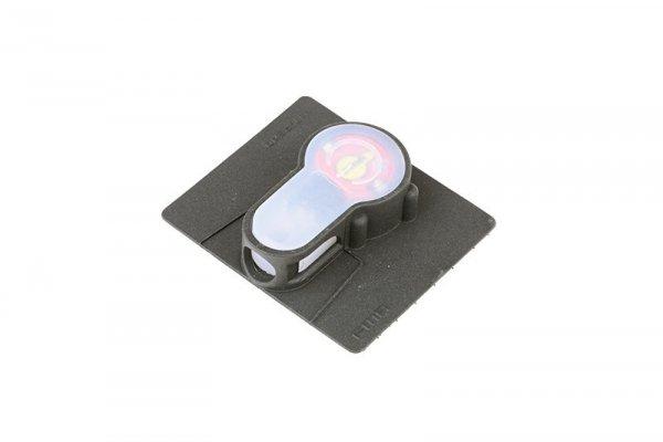 Marker elektroniczny Lightbuck Velcro - czarny (czerwone światło)
