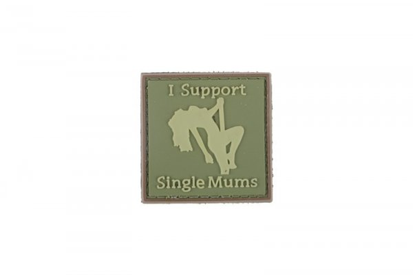 Naszywka 3D - I Support Single Mums - olive
