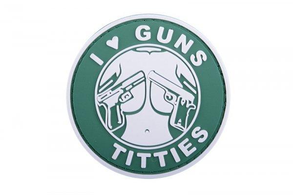 Naszywka 3D - I Love Guns Titties