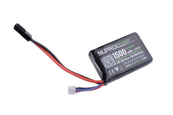 Nuprol - Akumulator LiPo 7,4V 1500mAh 20C PEQ