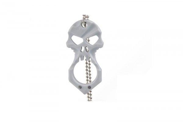 Wisiorek Skull EDC - szary