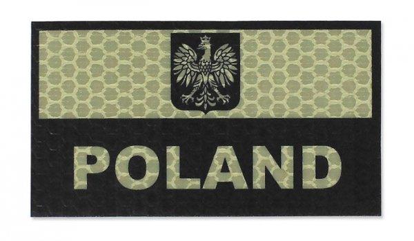 Combat-ID - Naszywka Polska - Duża - Piaskowy - Gen I - A1