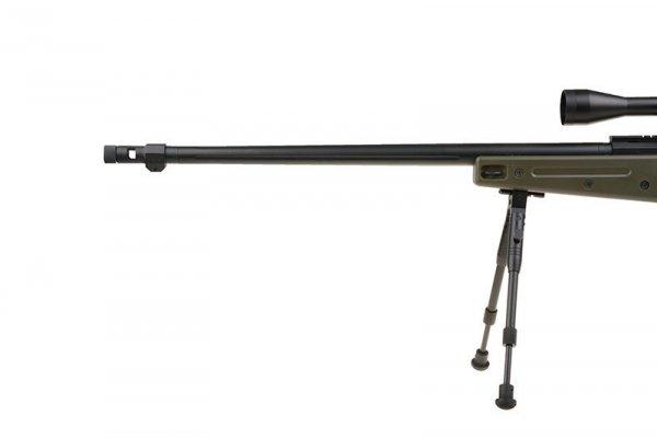 Well - Replika MB4409D - z lunetą i dwójnogiem - olive