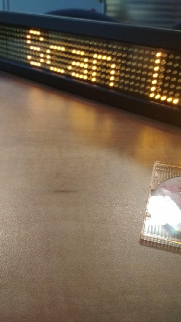Wyświetlacz diodowy 7x80, amber + pilot - Produkt kolekcjonerski