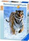 Puzzle 500 Ravensburger 144754 Tygrys w Śniegu