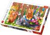 Puzzle 500 Trefl 37326 Kotki w Ogrodzie
