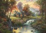 Puzzle 1000 Schmidt 58445 Thomas Kinkade - Górskie Zacisze