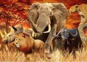 Puzzle 1000 Ravensburger 191437 Zwierzęta Afrykańskie - Wielka Piątka