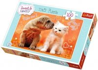 Puzzle 100 Trefl T-16264 Pies i Kot