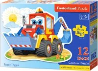 Puzzle 12 Maxi Castorland B-120024 Koparka - Spychacz - Funny Digger
