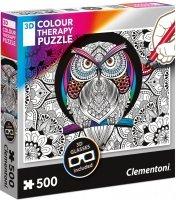 Puzzle 500 Clementoni 35050 Sowa - 3D Color Therapy