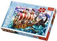Puzzle 100 Trefl T-16278 Piraci - Bitwa na Morzu