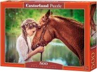 Puzzle 500 Castorland B-52516 Dziewczyna i Koń