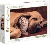Puzzle 500 Clementoni 35020 Pies i Kot