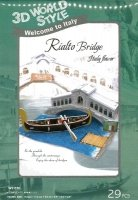 Puzzle 3D CubicFun 29 Domki Świata - Włochy Rialto Bridge W3115h