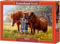 Puzzle 500 Castorland B-52509 Dziewczynka z Kucykami