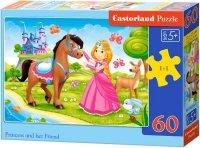Puzzle 60 Castorland B-06816 Księżniczka i Przyjaciel Koń