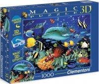 Puzzle 1000 Clementoni 39186 Delfin - Rafa Koralowa 3D + Okulary !