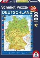 Puzzle 1000 Schmidt 58287 Mapa Niemiec