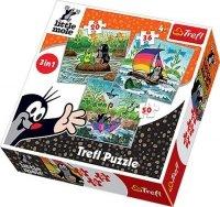 Puzzle 3w1 Trefl T-34186 Krecik - Zabawy na Wodzie