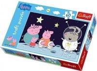 Puzzle 60 Trefl 17262 Świnka Peppa - Podróż na Księżyc
