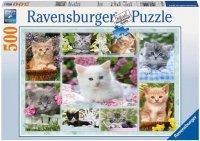 Puzzle 500 Ravensburger 141968 Kotki w Koszyku