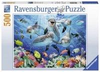 Puzzle 500 Ravensburger 147106 Delfiny