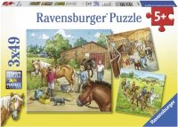 Puzzle 3x49 Ravensburger 092376 Konie - Stajnia