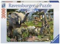 Puzzle 3000 Ravensburger 170708 Afrykańskie Zwierzęta
