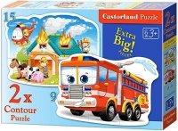 Puzzle 2w1 Castorland 15, 9 - Straż Pożarna 020058