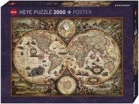Puzzle 2000 Heye 29666 Mapa Antyczna Świat