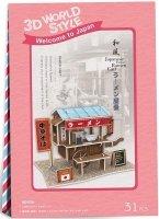 Puzzle 3D CubicFun 31 Domki Świata - Japonia - Ramen Cart W3103h