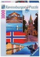 Puzzle 1000 Ravensburger 198450 Trondheim - Norwegia