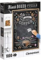 Puzzle 1000 Clementoni 39466 Black Board Coffee