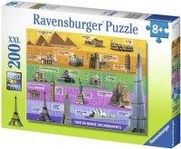 Puzzle 200 Ravensburger 126569 Dookoła Świata