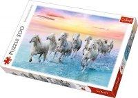 Puzzle 500 Trefl 37289 Białe Konie w Galopie