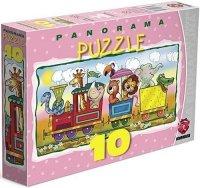 ! Puzzle Maxim 10 Panorama - Zwierzęta w Pociągu - P-10.01.03