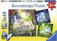 Puzzle 3x49 Ravensburger 092918 Jednorożce