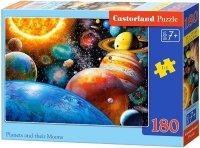 Puzzle 180 Castorland B-018345 Planety i ich Księżyce