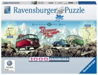 Puzzle 1000 Ravensburger 151028 Busem przez Alpy - Panorama